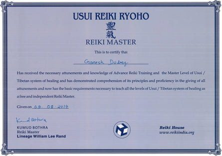 Reiki (Level I, II, IIIA, IIIB)